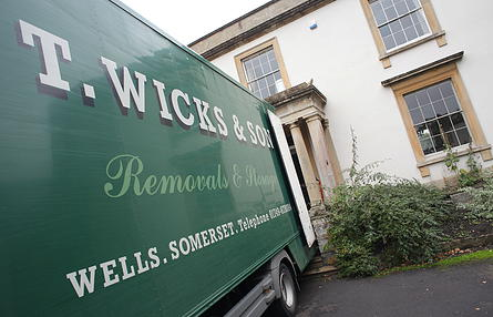 Removals Company Wells Street Glastonbury Taunton Bath T Wicks Green Van